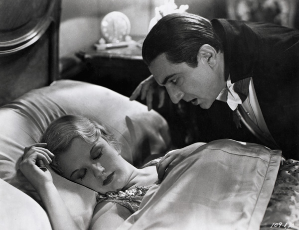 "Bela Lugosi and Helen Chandler in ""Dracula"", 1931, movie directed by Tod Browning"