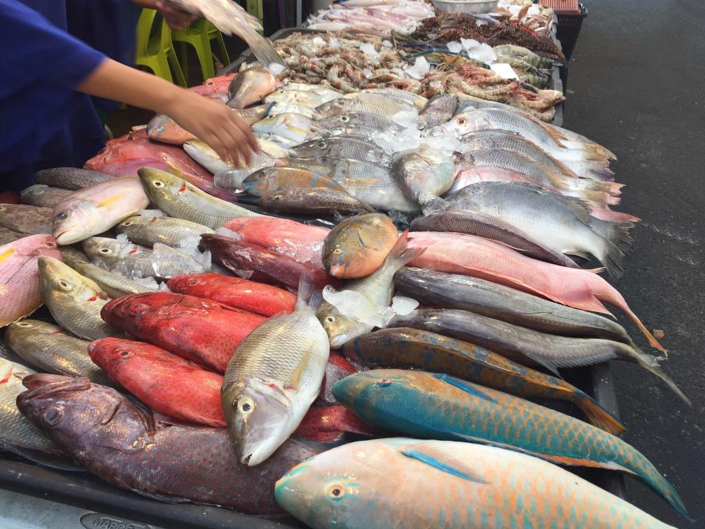 Il pesce al Night Market di Kota Kinabalu